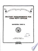 Military Requirements for Chief Petty Officer Book PDF