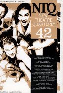 New Theatre Quarterly 42  Volume 11  Part 2
