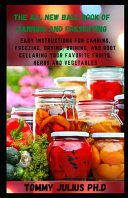 The All New Ball Book Of Canning And Preserving Book