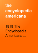 the encyclopedia americana