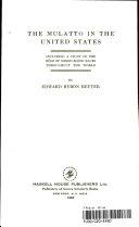 The Mulatto in the United States