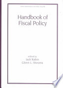 Handbook Of Fiscal Policy