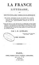 La France littéraire,