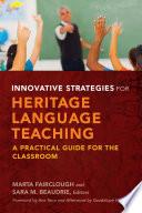Innovative Strategies for Heritage Language Teaching Book