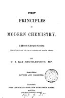 First principles of modern chemistry, a manual of inorganic chemistry