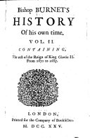 Bishop Burnet s History of His Own Time