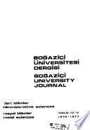 Boğaziçi University Journal. Administrative Sciences. Social Sciences