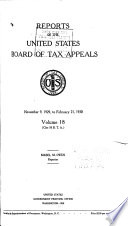 Reports of the United States Board of Tax Appeals