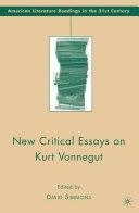 Pdf New Critical Essays on Kurt Vonnegut Telecharger