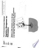 Vegetation Management for Reforestation (CA,OR,NV)