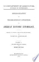 Bibliography Of The More Important Contributions To American Economic Entomology The More Important Writings Of Benjamin Dana Walsh And Charles Valentine Riley By Samuel Henshaw 1889 1890