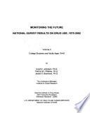 Monitoring The Future National Survey Results On Drug Use Book PDF