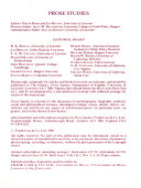 Prose Studies, 1800-1900