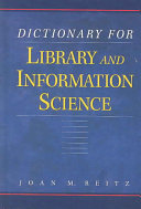 Dictionary for Library and Information Science Book PDF