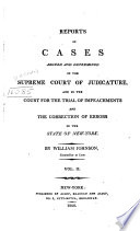 Reports of Cases Argued and Determined in the Supreme Court of Judicature