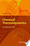 Chemical Thermodynamics Book PDF