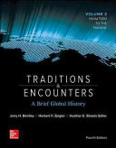 Traditions   Encounters  A Brief Global History Volume 2 with 1 Term Connect Access Card