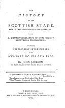 The History of the Scottish Stage