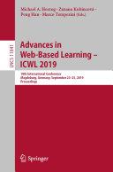 Advances in Web Based Learning     ICWL 2019