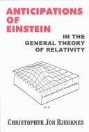 Anticipations of Einstein in the General Theory of Relativity Book