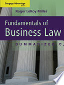 Cengage Advantage Books Fundamentals Of Business Law Summarized Cases Book