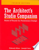 The Architect's Studio Companion  : Rules of Thumb for Preliminary Design