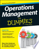 Operations Management For Dummies Book PDF