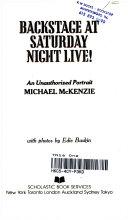 Backstage at Saturday Night Live