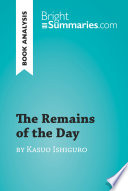 The Remains of the Day by Kazuo Ishiguro  Book Analysis