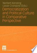 Democratization and Political Culture in Comparative Perspective