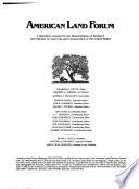 American Land Forum