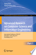 Advanced Research on Computer Science and Information Engineering Book