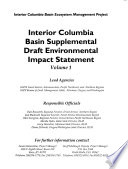 Interior Columbia Basin Ecosystem Management Project Book PDF