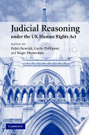 Judicial Reasoning Under The Uk Human Rights Act Book PDF