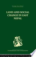 Land And Social Change In East Nepal Book PDF