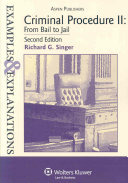 Criminal Procedure II: From Bail to Jail
