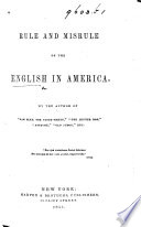 The English in America  By the Author of    Sam Slick     etc  i e  T  C  Haliburton Book