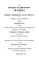 The Theological and Miscellaneous Works  Ed  with Notes by John Towill Rutt