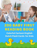 200 Baby First Reading Book Colorful Cartoon English Dutch Flash Cards For Kids