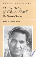 On the Poetry of Galway Kinnell Book