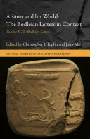 Pdf Aršāma and his World: The Bodleian Letters in Context