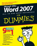 Word 2007 All in One Desk Reference For Dummies