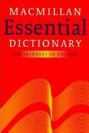 Books - Macmillan Essential Dictionary With Cd (Dictionary) | ISBN 9780230039483