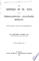 The Epistles Of St Paul To The Thessalonians Galatians Romans