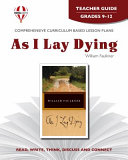 As I Lay Dying Teacher Guide Book