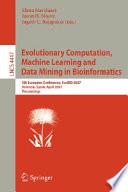 Evolutionary Computation Machine Learning And Data Mining In Bioinformatics Book PDF