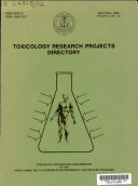 Toxicology Research Projects Directory Book PDF