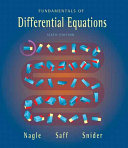 Fundamentals of Differential Equations Book
