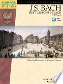 First Lessons in Bach  Songbook