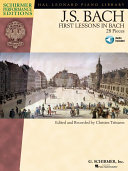 First Lessons in Bach  Songbook  Book